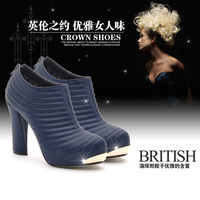 free shipping 2013 new women's shoes genuine leather high heel platform fashion x996-3