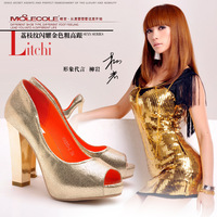 2013 women's spring shoes open toe high-heeled shoes single shoes