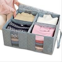 free shipping 130L  bamboo storage box High quality bamboo Large clothing storage box finishing