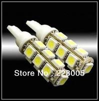 free shipping wholesale 10pcs T10 13 SMD 5050 indicator Light Auto car led bulb