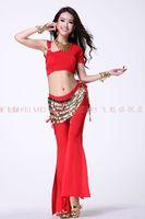 belly dance dancing single shoulder top+slit pants skirt+304 coins hip scarf costume 3pcs/set stage costume wear
