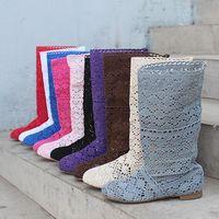2013 knitted gauze cutout boots short boots princess boots summer casual fashion boots gaotong