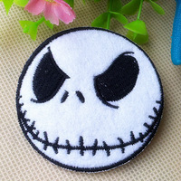 6*6cm Iron on patch Jack jack cartoon figure fabric patches for clothing accessories embroidery 12pcs/lot wholesale