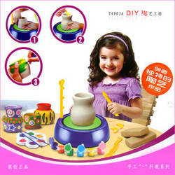 Christmas gift hot-selling xinyangguang diy handmade pottery andcreatively toy(China (Mainland))