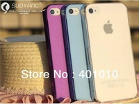 Brand new Scrub transparent  slim cover case for apple iphone 4 4s free air mail
