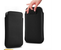 (fast delivery)1pcs hk post free shipping leather case galaxy grand duos i9082 case bag with cord pull easy to take