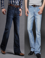 Men's clothing spring and summer color light new arrival male high waist boot cut denim jeans male