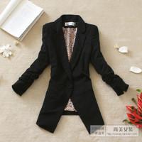 2012 women's autumn outerwear shoulder pads slim waist three quarter sleeve blazer 2