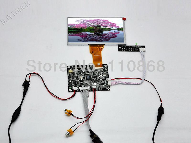 """Free Shipping 7 inch LCD Monitor VGA+2AV+Reversing Controller+7"""" AT070TN92 50 Pin LCD Screen 800x480 LED(China (Mainland))"""
