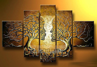 Hand painted oil painting 0237 home decoration picture frameless painting tree root