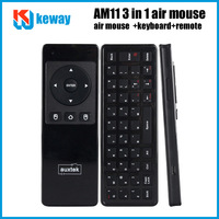 Free shipping  AM11 Air Mouse 3D Wireless Keyboard (Two-Sided) Built-in Microphone2.4GHz RF USB Receiver for Android tv box