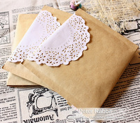 Cowhide paper envelope lace jewelry bags vintage hand for accessories gift packaging bag