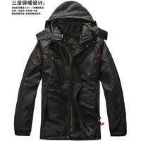 Male winter thin wadded jacket spring outerwear the elderly thickening cotton-padded jacket sports cotton-padded jacket men's