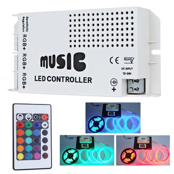 12-24V 24 Keys Wireless IR Remote Control LED Music Sound Control RGB led Controller Dimmer for RGB LED Strips