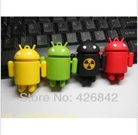 Free Shipping Hot Wholesale Guaranteed full capacity Android Robot USB Flash Drive 1GB 2GB 64GB 8GB 16GB 32B 64GB