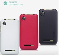 Nillkin brand Matte Hard Cover Case skin +Screen Protectors For Lenovo lephone A660,moblie phone case for lenovo free shipping