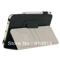 "Tab3 GT-P3200 10 Color Flip Leather Stand Case Cover With Hand Belt for Samsung Galaxy Tab 3 P3200 P3210 7"" Tablet PC DHL EMS"