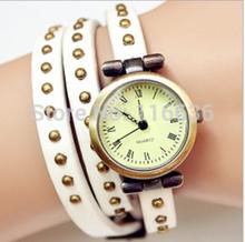 Hgh Quality Genuine Leather Bracelet Watch women DOTS Retro Vintage Fashion Korean ladies Dropshipping