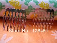 Free shipping Nickel free--50 Metal Hair Combs, 36mm x 38mm(7 teeth)