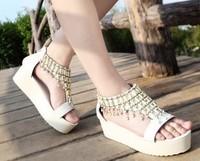 Wholesale Free Shipping 2013 bohemia flat platform sandals women's shoes flat heel platform Hot sales