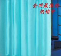 Quality peva waterproof shower curtain thickening blue bathroom curtain cloth curtain 2 meters