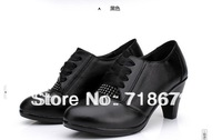 Free shipping  2013 New,super comfortable leather high-heeled fashion shoes single shoes first layer of leather