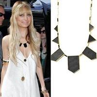 free shipping new fashion wome Retro geometric black necklace 12pcs/lot
