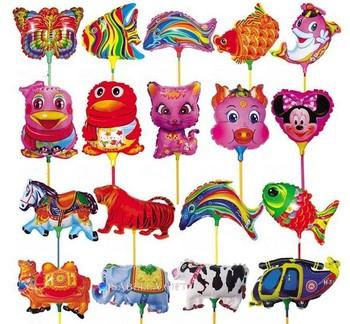 activity rod balloon animal cartoon style children ballon decoration freeshipping garden wedding fly tinfoil