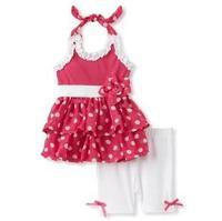 2014 New Arriving Girl sets ( pants+dress )2pcs girl dress baby suit Baby Clothes Set, 5sets/lot