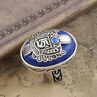 Free Shipping free bag wholesale The Vampire Diaries Stefan Salvatore copper Lapis lazuli ring Rhinestones fashion jewelry 2117