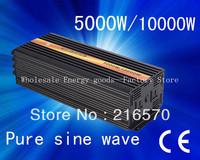 24v dc 220v ac sine wave power inverter 5000W/ Peak 10000W Pure Sine Wave (CTP-5000W)