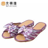 Fresh summer sweet bow pearl female slippers slip-resistant word slippers