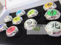 Naruto Set of 10 Uchiha Itachi Akatsuki Color Rings Cos