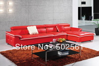 2014 new modern functional real top grain leather corner sofa leisure living room furniture