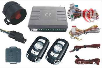auto burglar alarm system 1-Way Car Alarm Protection System with 2 Remote Control  Free Shipping
