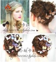 11 pcs Butterflies Hair Clips for weddings renaissance festivals, cocktail parties, garden parties