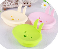 9042 cartoon momo rabbit soap box smiley rabbit soap dish bathroom accessories color