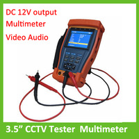 "3.5"" Inch CCTV Tester Multimeter Security Video Audio UTP PTZ test with DC 12V output"