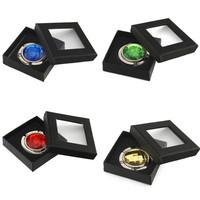 Fashion Round Acrylic Folding Purse Hook Handbag Hanger with Jewelry Gift Box Holiday Gifts Free Shipping