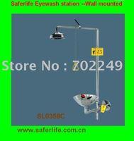 Polishing Stainless Steel Emergency Eye Shower  Eye Wash safety shower Face shower station