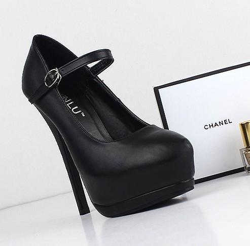 Vivi fashion shallow mouth sexy hasp toe cap covering single shoes thin heels platform high-heeled shoes(China (Mainland))