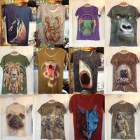Free shipping,3d cotton t shirt ,3D printed t-shirts
