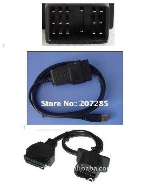2013 Hot Selling Product obd-ii Connector Toyota 17 Pin 17pin to 16 Pin OBD2 Adapter Car Cable freeshipping(China (Mainland))