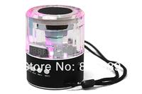 Freeshipping dhl Portable Speaker +Mini speaker +Micro SD/TF USB Disk Speaker FM Radio LCD Display for iphone ipad