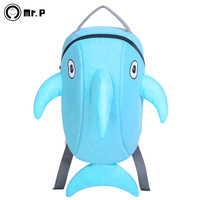 free shipping Dolphin  original brand mr.p   high quality school bag child backpack bag