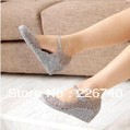 Classic high-heeled wedges jelly shoes cutout bird's-nest bling paillette crystal plastic female hole sandals