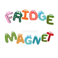#Cu3 Cute 26 Pcs Teaching Alphabets Fridge Magnet Magnetic Wall Letters Stickers