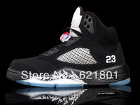 Ajordan 5 black silver 2011 year five generations wholesale authentic basketball shoes now.136027-010