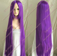 Free shipping 2013 the new wig Purple one meter long straight hair wig
