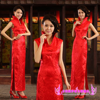 The bride cheongsam marry red long design welcome clothes cheongsam fashion summer